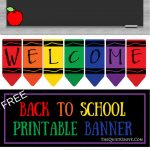 Free Printable Welcome Back To School Banner | The Quiet Grove   Welcome Back Banner Printable Free