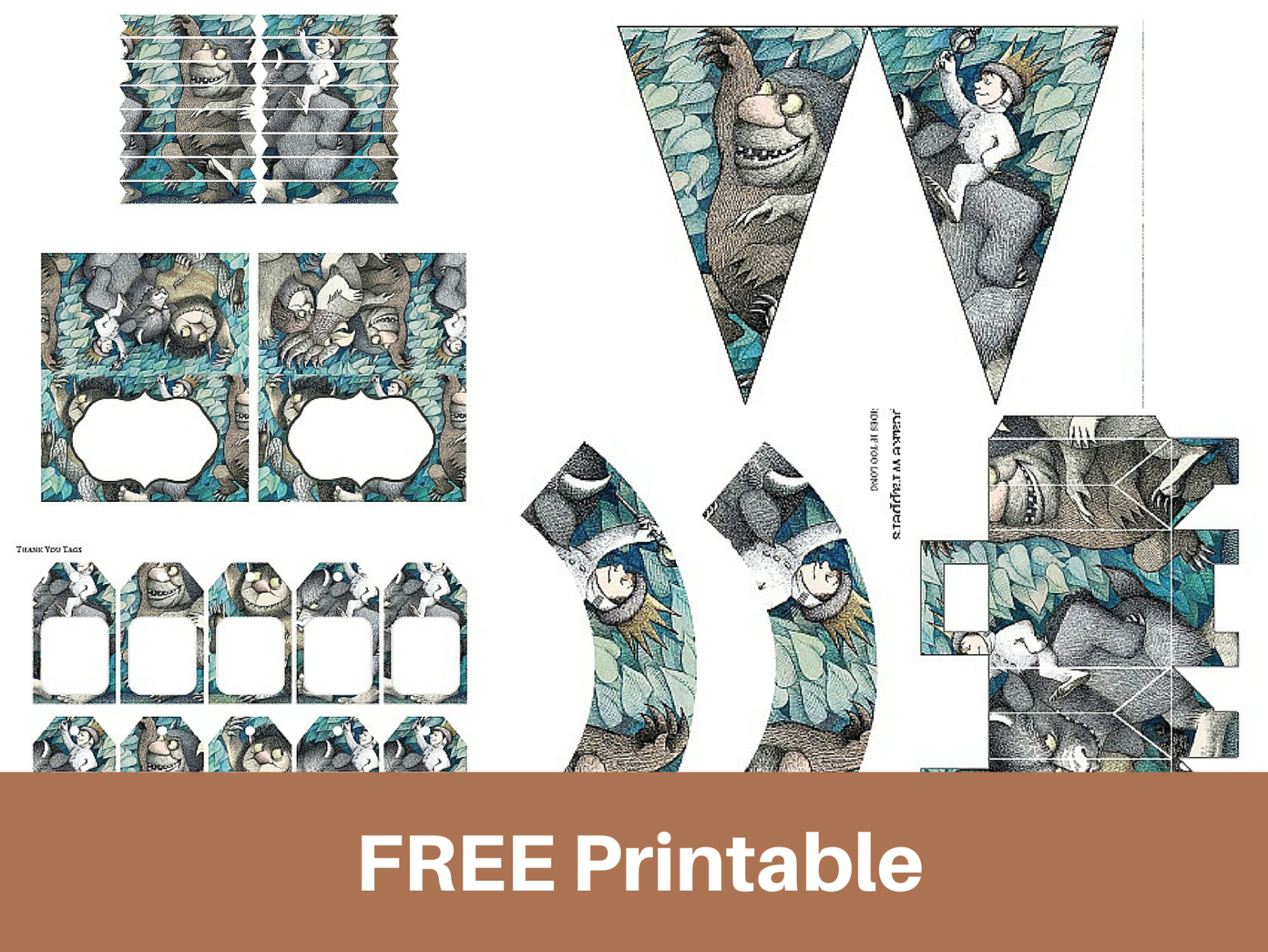 "Free Printable ""Where The Wild Things Are"" 