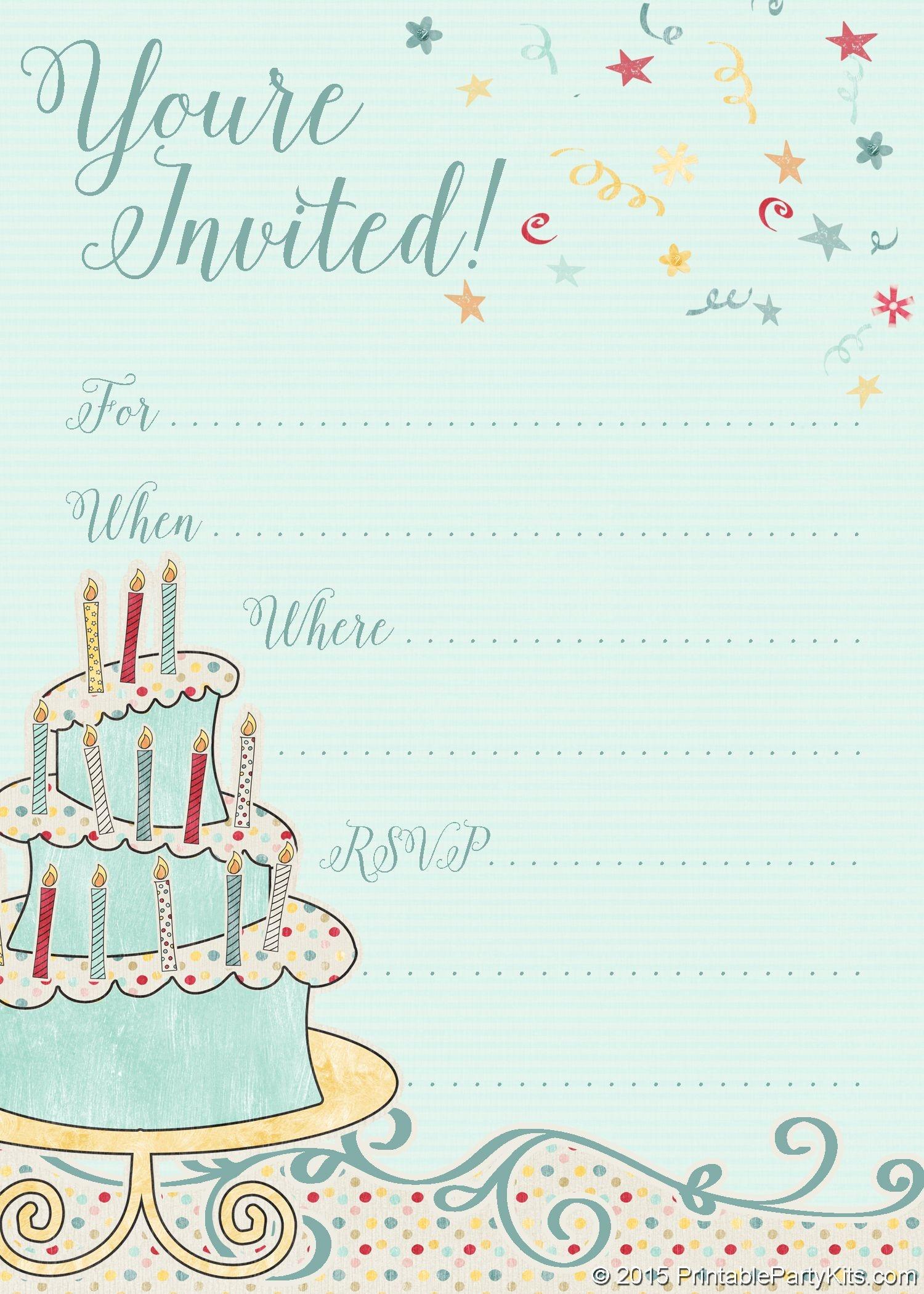 Free Printable Whimsical Birthday Party Invitation Template   Party - Invitations Templates Online Free Printable