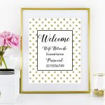Free Printable Wifi Password Sign From @chicfetti | Office | Wifi   Free Printable Wifi Password Signs