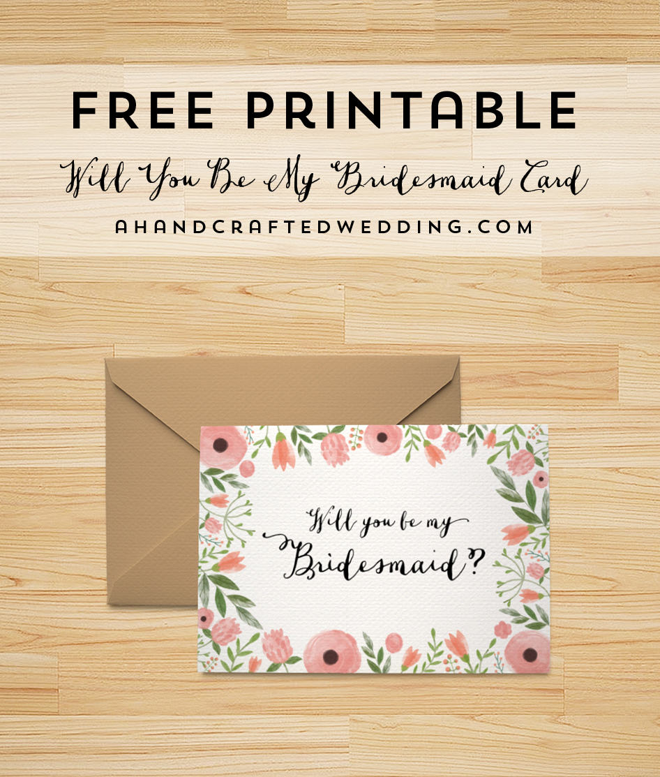 Free Printable Will You Be My Bridesmaid Card | | Freebies | | Be My - Free Printable Bridesmaid Proposal