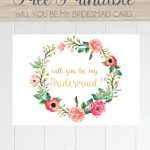 Free Printable Will You Be My Bridesmaid Card. Only At Serendipity   Will You Be My Godmother Printable Card Free