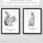 Free Printable Woodland Animal Wall Art   Free Woodland Animal Printables
