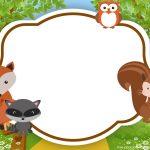 Free Printable Woodland Invitation Template | Bagvania Invitation In   Free Printable Woodland Animal Templates