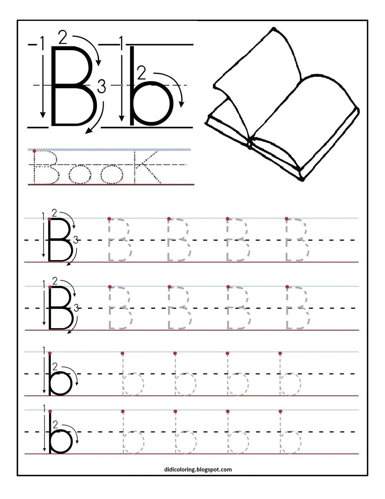 Free Printable Worksheet Letter B For Your Child To Learn And Write - Learning To Write Letters Free Printables