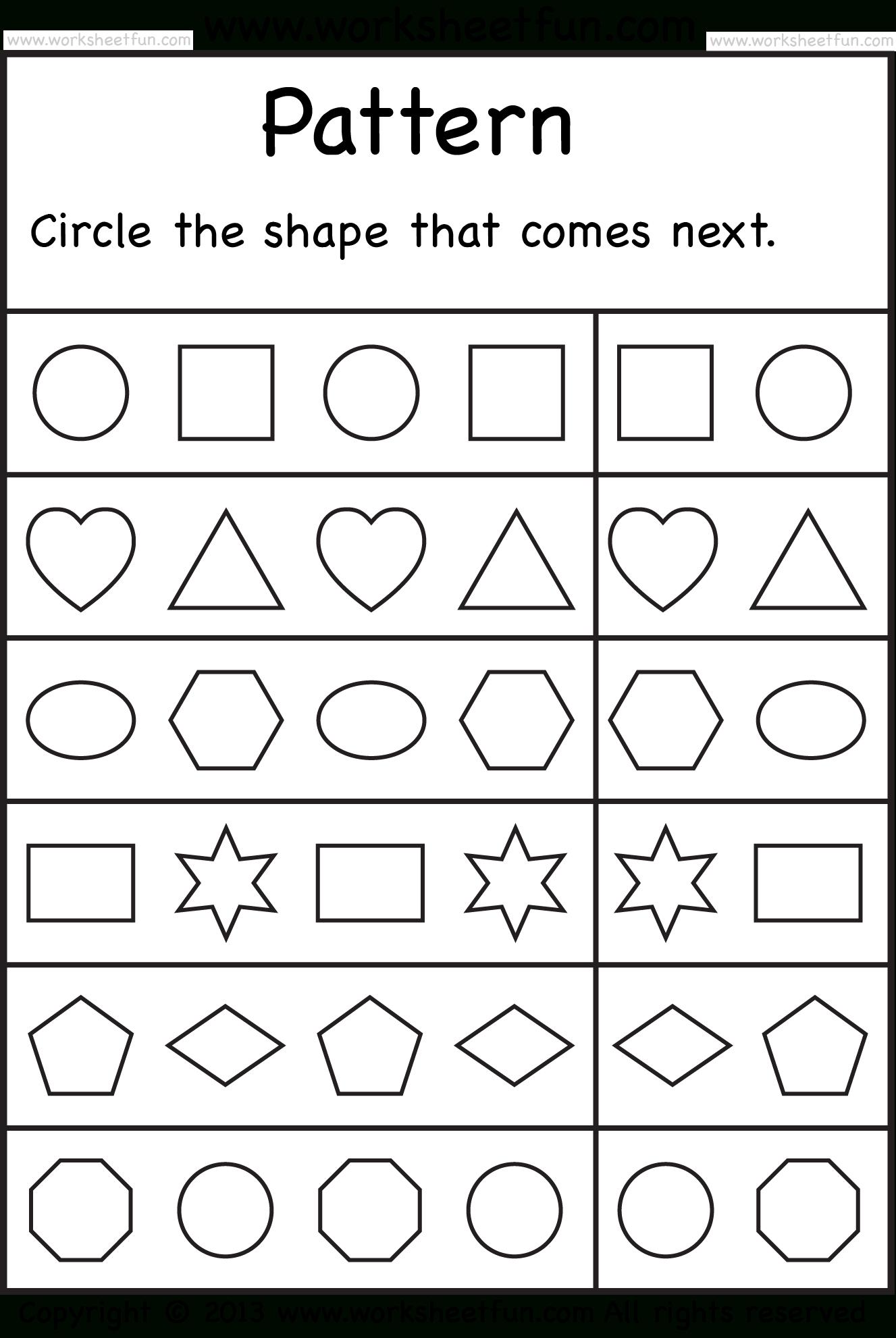 Free Printable Worksheets – Worksheetfun / Free Printable Shape - Free Printable Preschool Worksheets