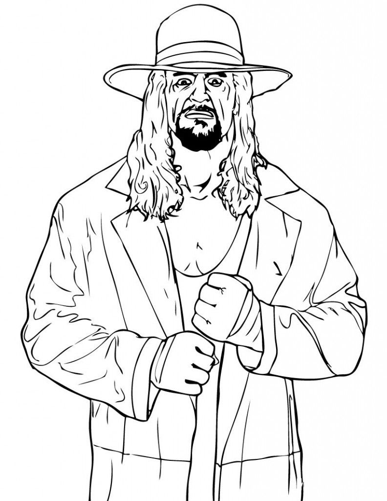 Free Printable Wwe Coloring Pages For Kids | Wwe Party Ideas | Wwe - Wwe Colouring Pages Free Printable