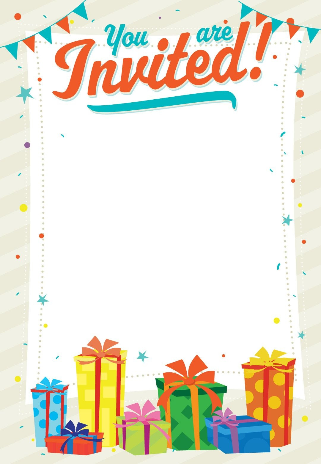 Free Printable You Are Invited Invitation | Printables & Fonts - Free Printable Birthday Invitation Cards Templates