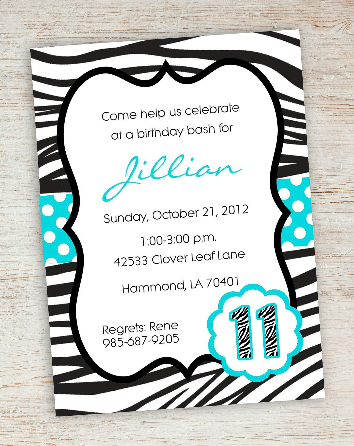 Free Printable Zebra Party Invitations | Printable Pink Turquoise - Free Printable Girl Birthday Party Invitations