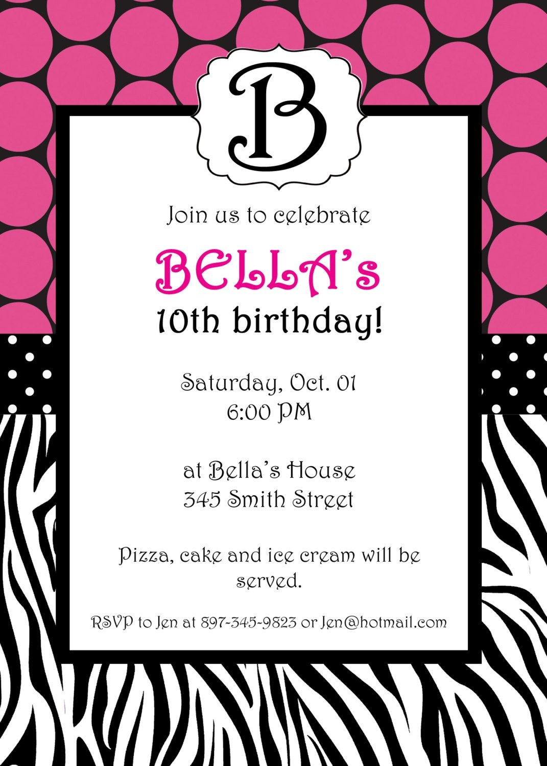 Free Printable Zebra Print Invitations Baby Shower | Emma | Free - Zebra Print Party Invitations Printable Free
