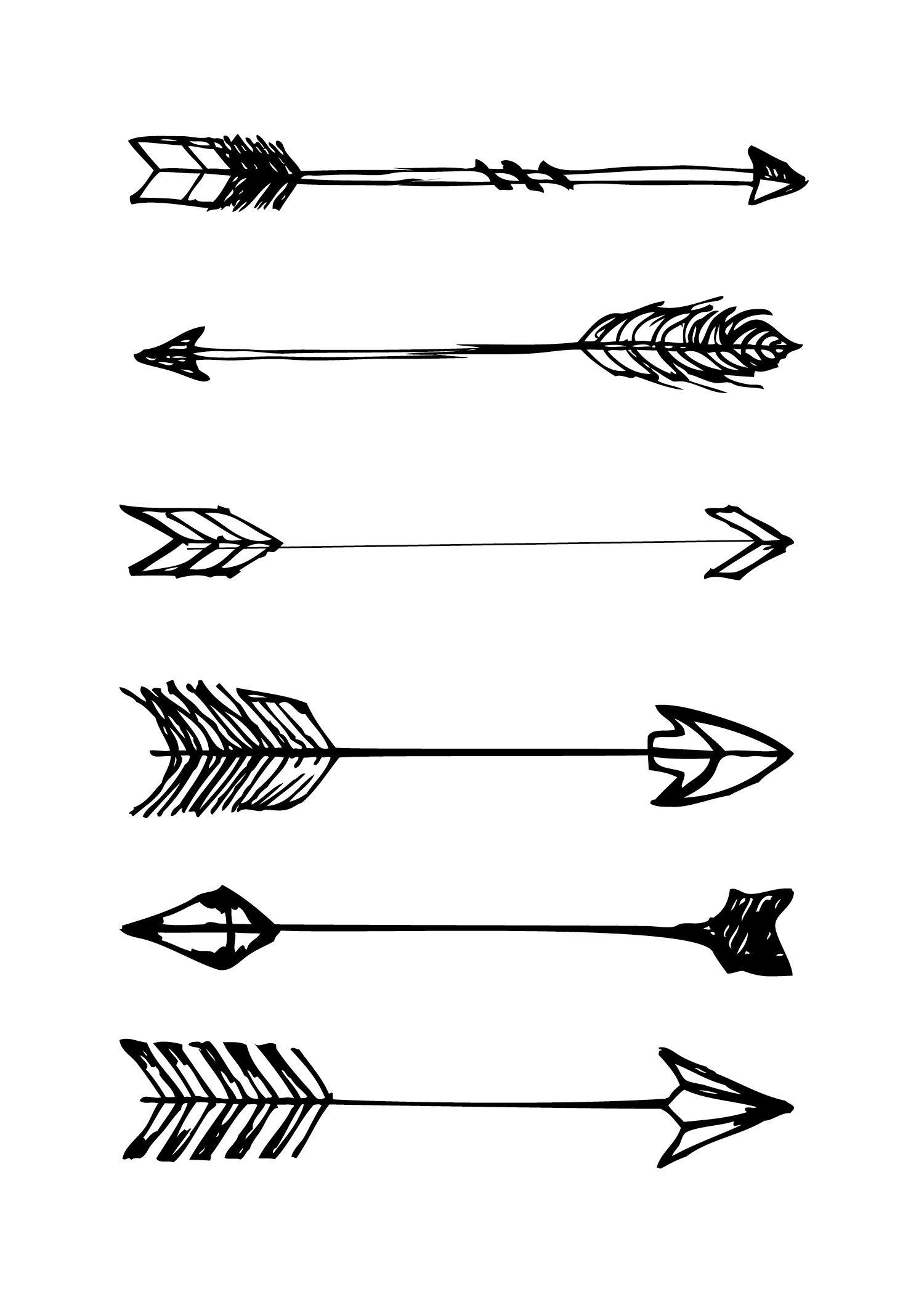 Free Printable | Zelf Maak Idee - Dibujos, Flechas En Png - Free Black And White Printables