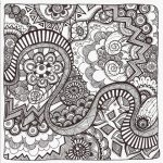 Free Printable Zentangle Coloring Pages For Adults   Free Printable Doodle Patterns