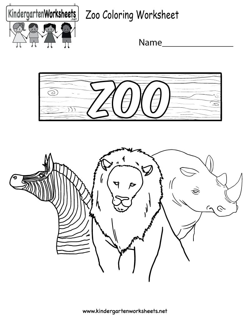 Free Printable Zoo Coloring Worksheet For Kindergarten - Free Printable Zoo Worksheets