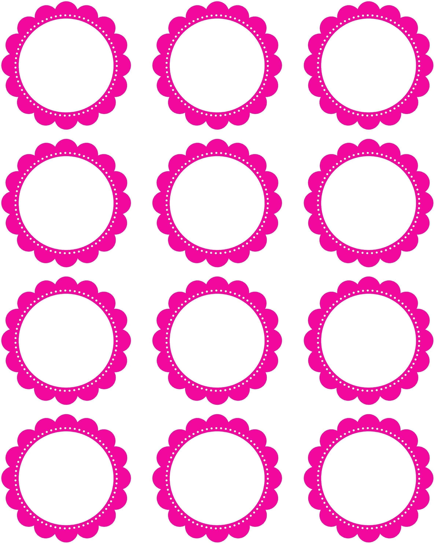 Free Printable2 Inch Hot Pink Scallop Circles | My Etsy Shoppe - Free Printable Party Circles