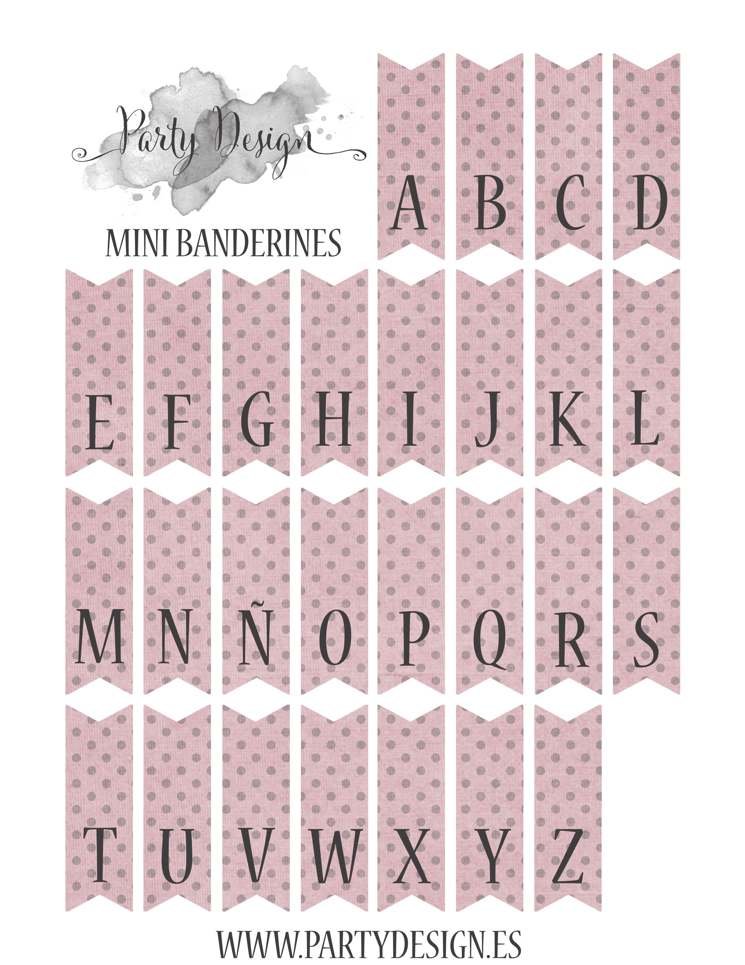Free Printables Alphabet Page For Cake Bunting. It Comes In Yellow - Free Printable Cake Bunting Template