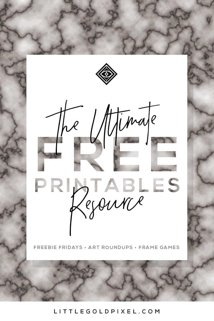 Free Printables • Free Wall Art Roundups • Little Gold Pixel - Free Printable Artwork To Frame