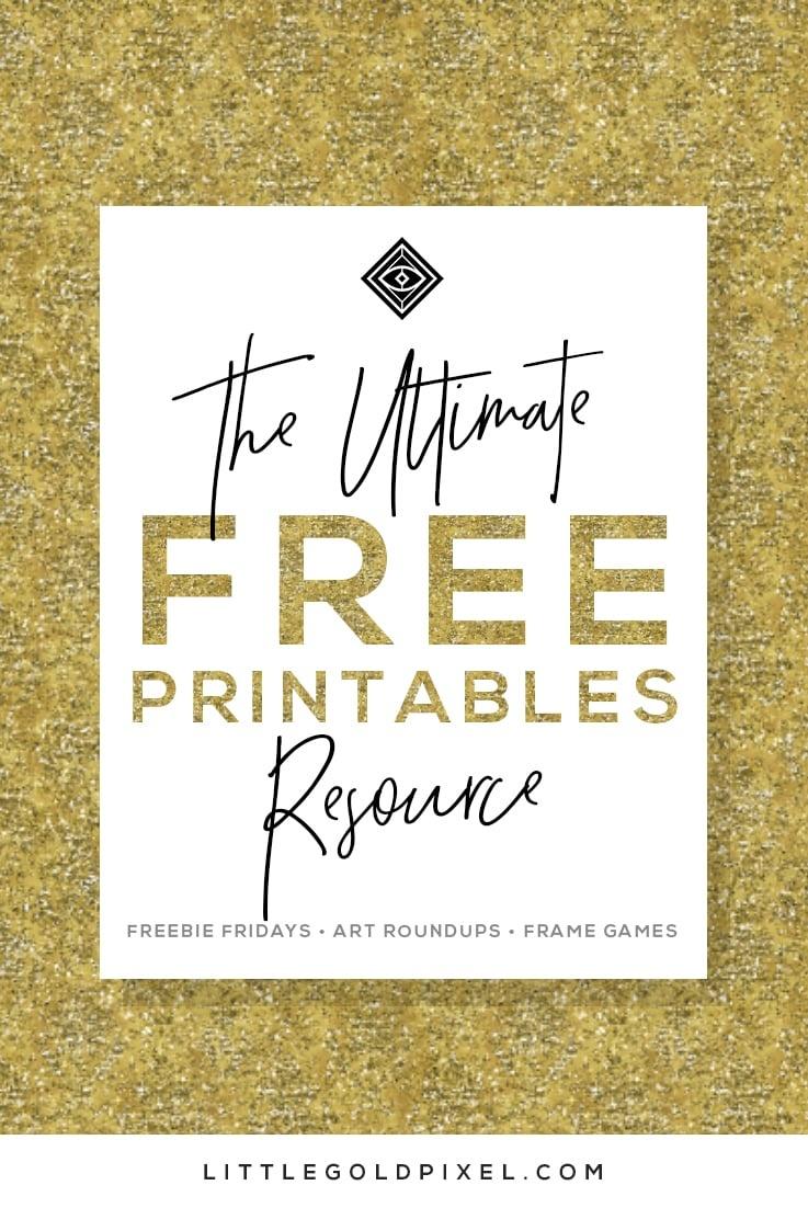 Free Printables • Free Wall Art Roundups • Little Gold Pixel - Free Printable Artwork