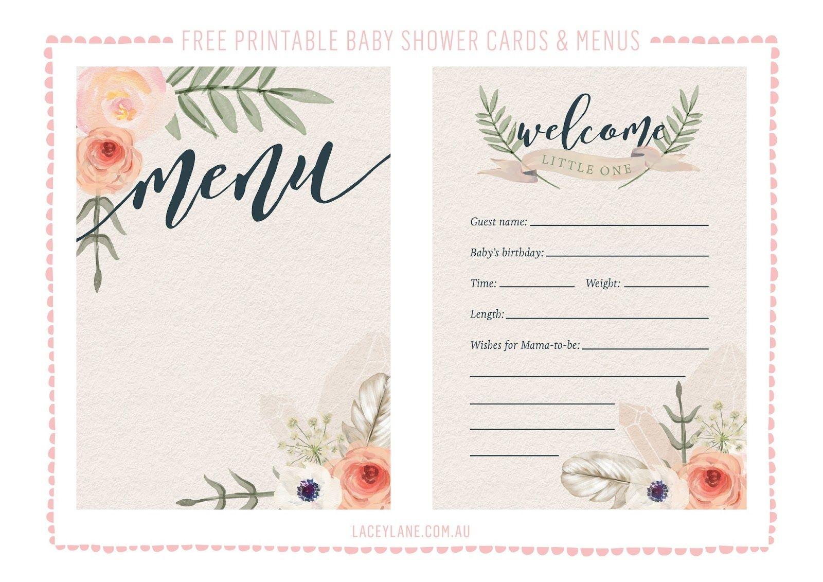 Free Printables ♥ Vintage Boho Baby Shower Cards   Lm Baby Shower - Free Boho Baby Shower Printables