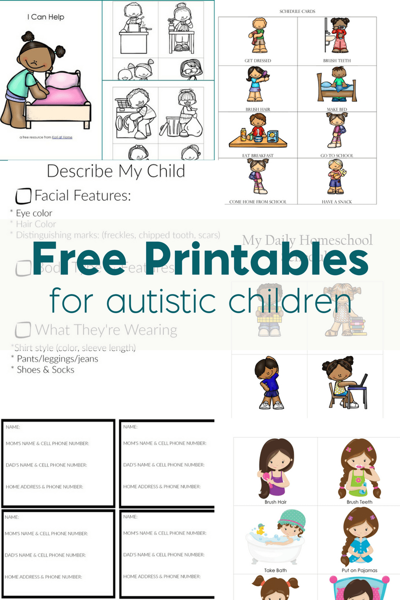 Free Printables For Autistic Children And Their Families Or Caregivers - Autism Picture Cards Free Printable