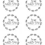 Free Printables For Friends, Neighbors, Teachersetc Christmas   Christmas Gift Tags Free Printable Black And White
