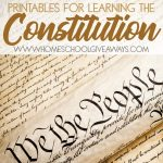 Free Printables For Learning The Constitution (Free Instant Copywork   Free Printable Us Constitution Worksheets