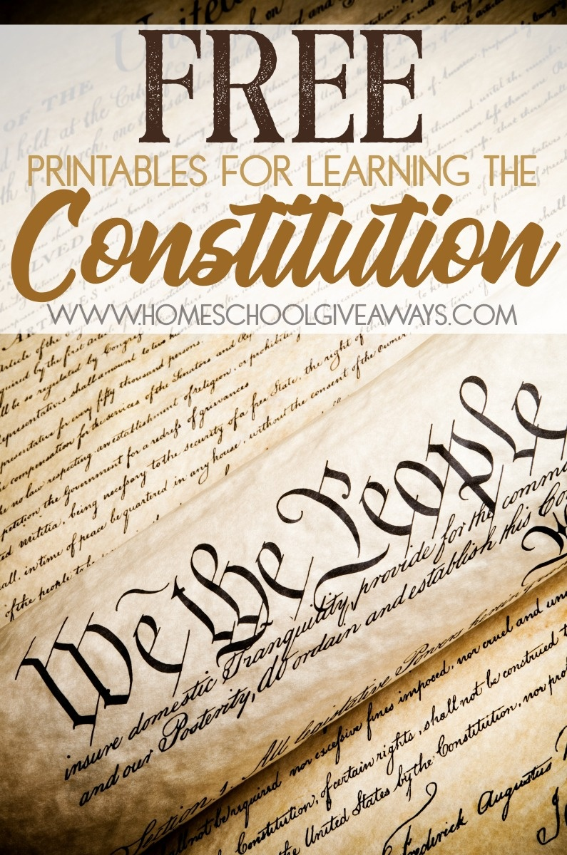 Free Printables For Learning The Constitution (Free Instant Copywork - Free Printable Us Constitution Worksheets