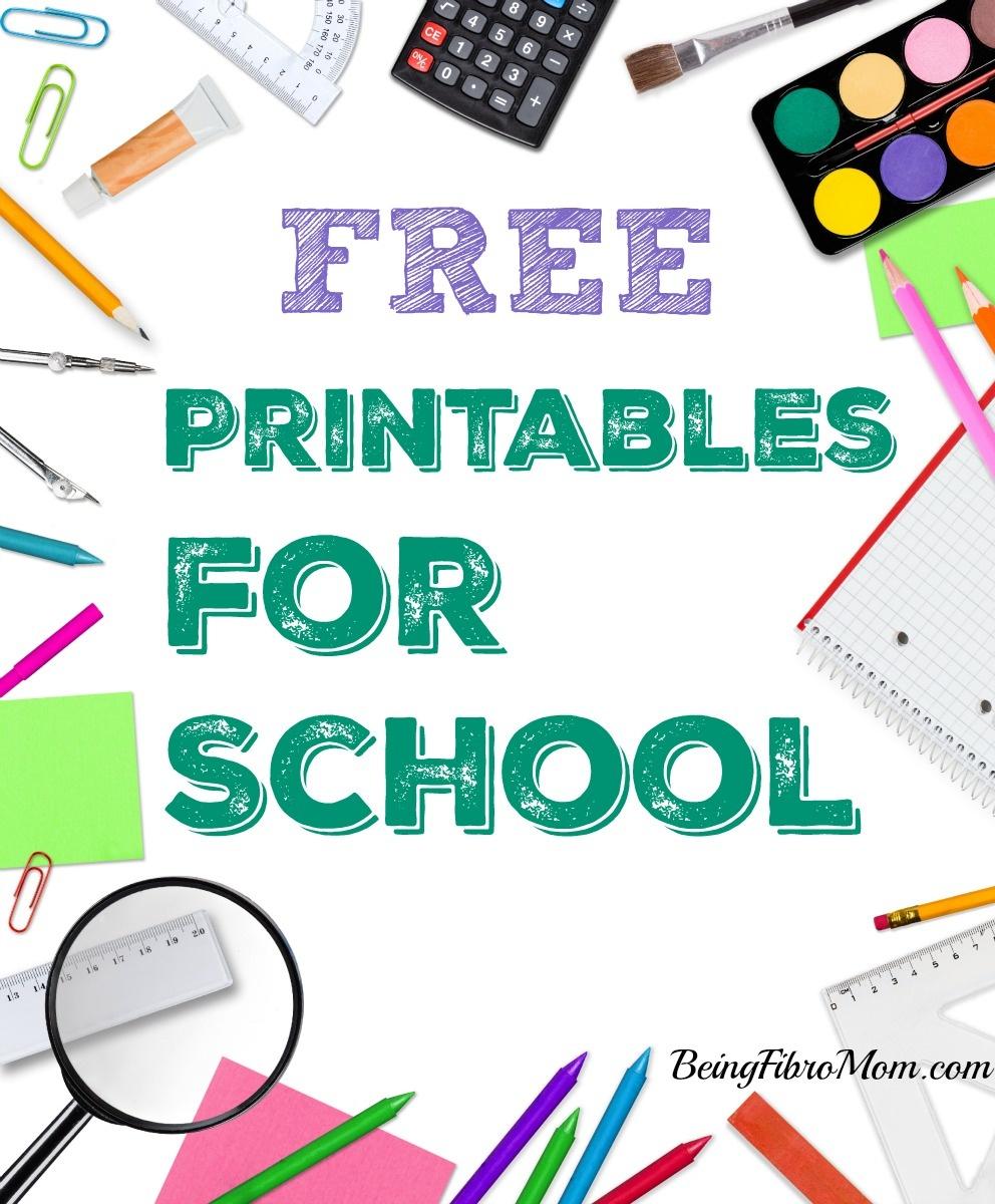 Free Printables For School - Free School Printables