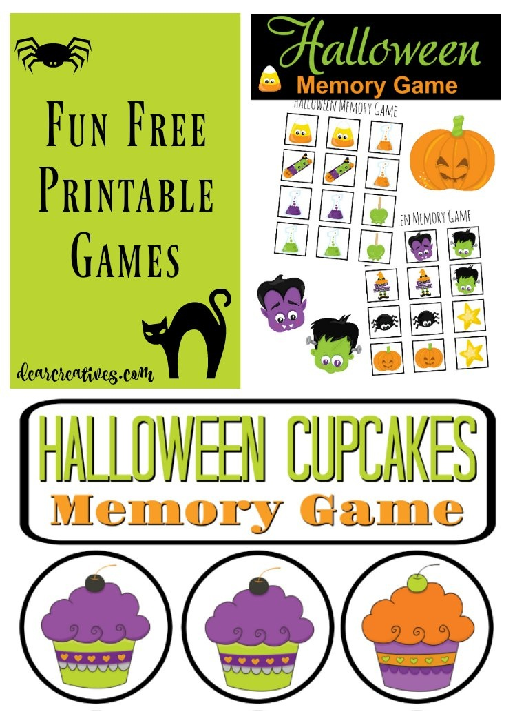 Free Printables! Fun Stuff For The Kids: Free Halloween Memory Games - Free Printable Halloween Games For Kids