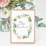 Free Printables   Let's Stay Home | The Harper House   Free Watercolor Printables
