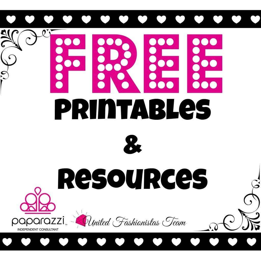 Free Printables | Paparazzi Accessories Facebook Parties | Paparazzi - Free Printable Live Sale Numbers
