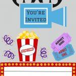 Free Printables | Printable Movie Night Invite   Free Printable Movie Tickets