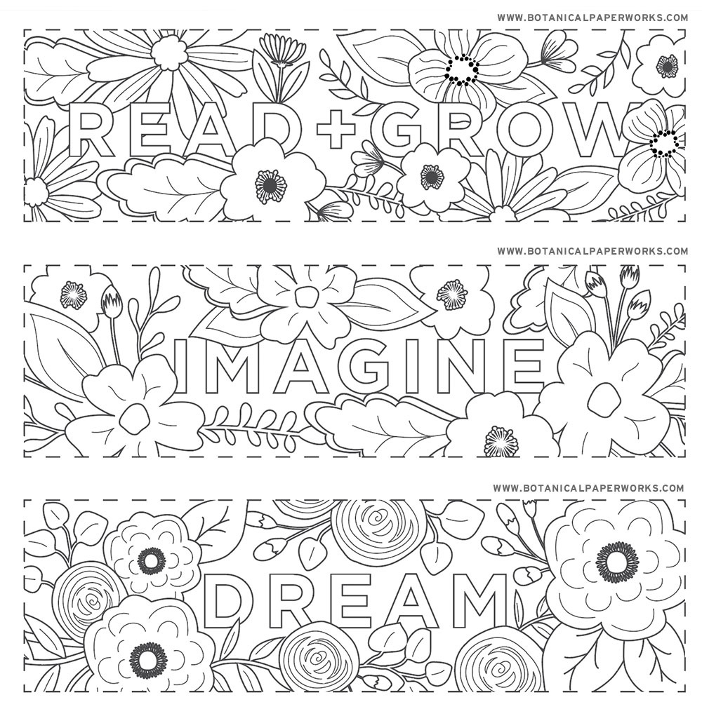 Free Printables} Read + Grow Coloring Bookmarks For Back-To-School - Free Printable Pictures To Color