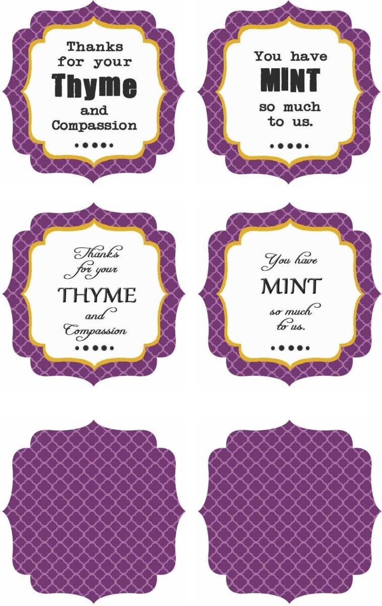 Free Printables : Thank You Labels | School Nurse | Thank You Labels - Free Printable Plant Labels