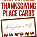 Free Printables: Thanksgiving Place Cards   Home Cooking Memories   Free Thanksgiving Printables Place Cards