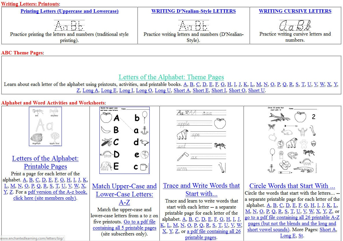 Free Printing And Cursive Handwriting Worksheets - Free Printable Writing Pages