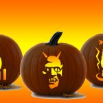 Free Pumpkin Carving Stencils   Pirate, Cat, Aztec Sun, Michael   Free Printable Pumpkin Carving Stencils