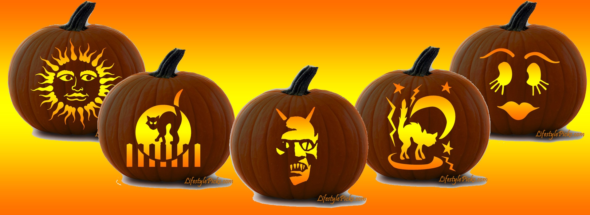 Free Pumpkin Carving Stencils - Pirate, Cat, Aztec Sun, Michael - Free Printable Pumpkin Carving Stencils