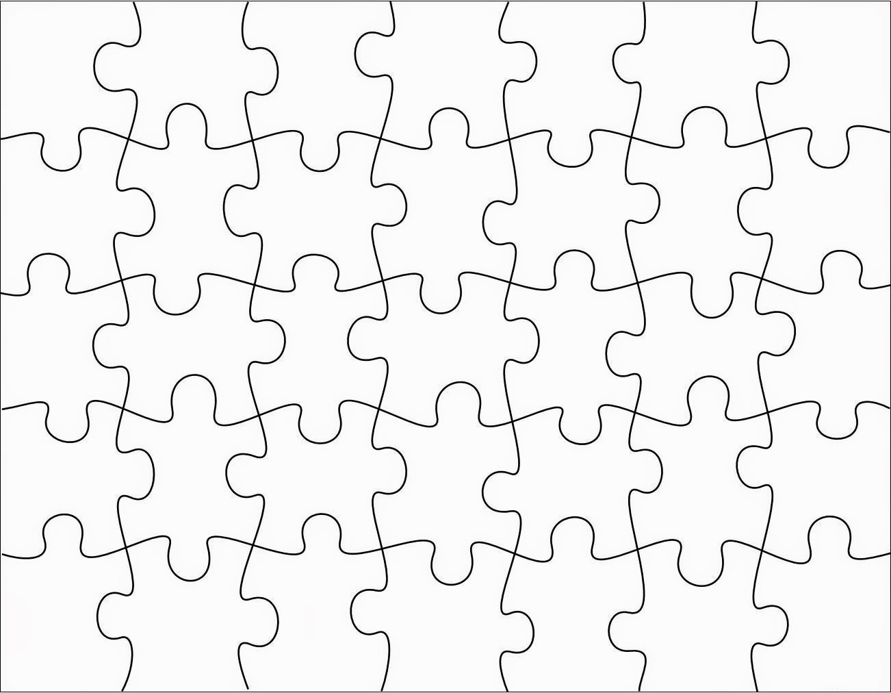 Free Puzzle Piece Template, Download Free Clip Art, Free Clip Art On - Free Printable Blank Jigsaw Puzzle Pieces