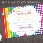 Free Rainbow Party Invitation | Free Party Invitationsruby And   Free Printable Birthday Invitation Cards
