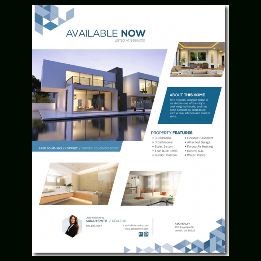 Free Real Estate Templates - Free Printable Real Estate Flyer Templates