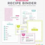Free Recipe Binder Template   Tutlin.psstech.co   Free Recipe Book Templates Printable