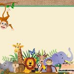 Free Safari Theme Baby Shower Invitations | Free Printable   Jungle Theme Birthday Invitations Free Printable
