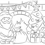 Free Santa Coloring Pages And Printables For Kids   Free Printable Santa Claus Face