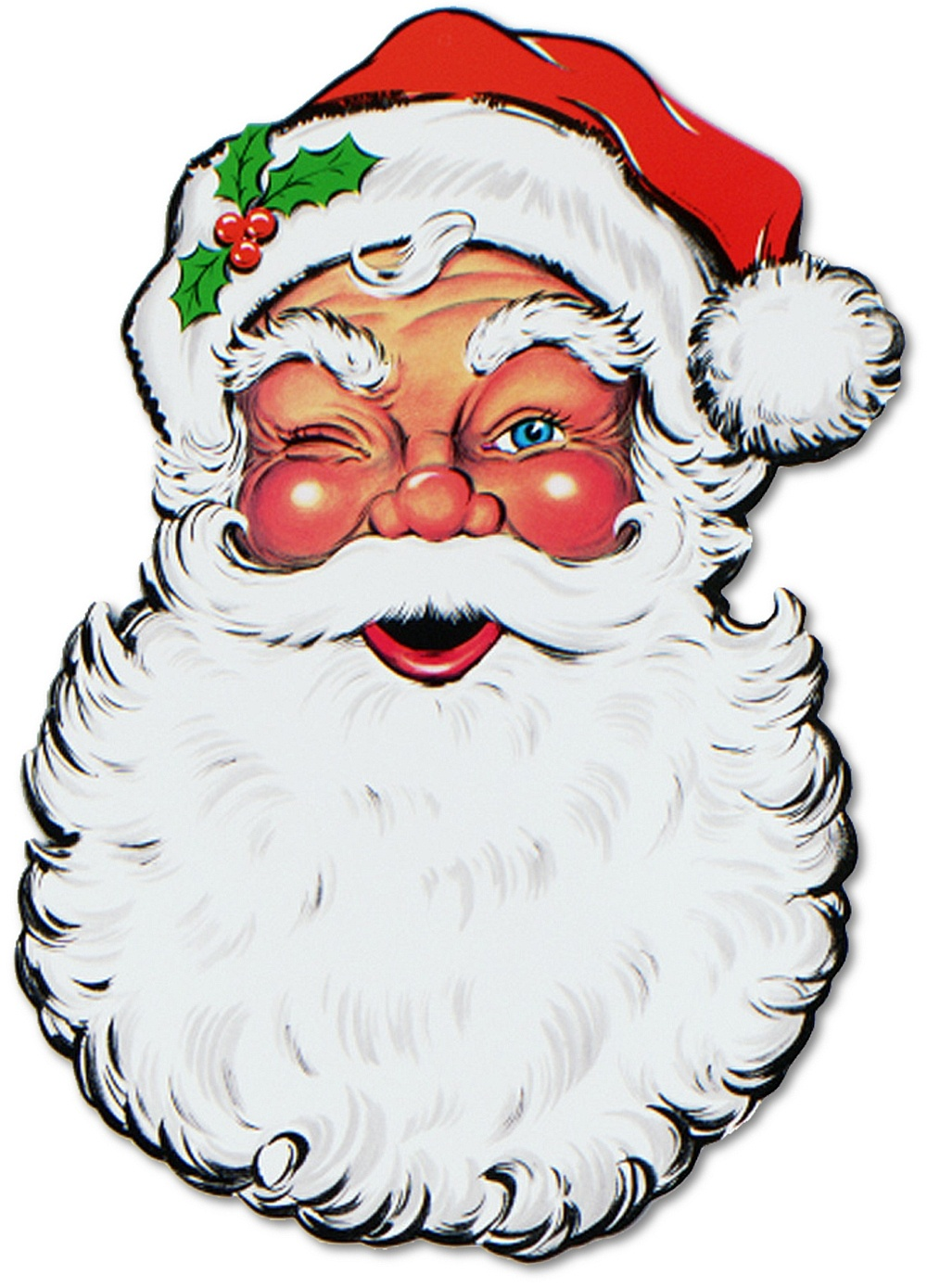 Free Santa Face Picture, Download Free Clip Art, Free Clip Art On - Free Printable Santa Claus Face