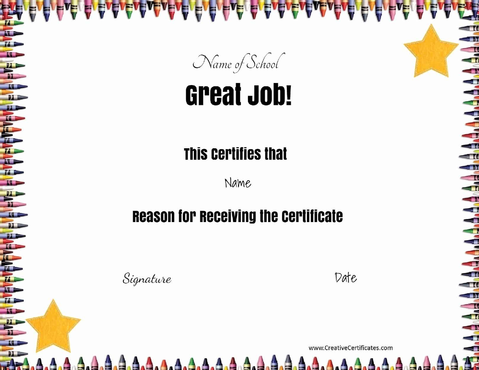 Free School Certificates & Awards - Free Printable Reward Certificates