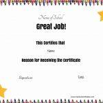 Free School Certificates & Awards   Free Printable School Achievement Certificates