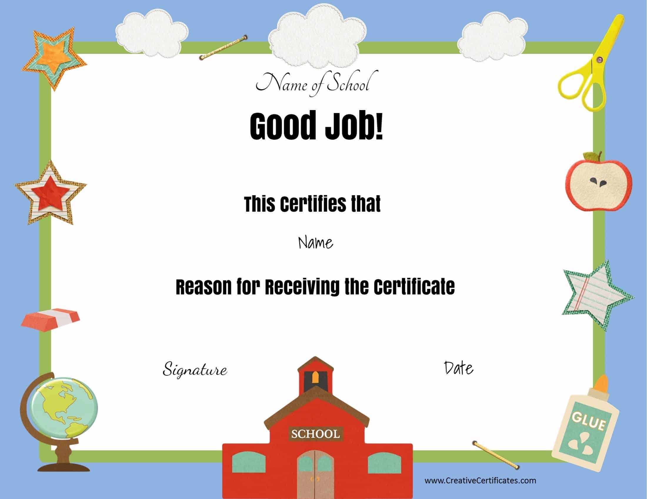 Free School Certificates & Awards - Good Behaviour Certificates Free Printable
