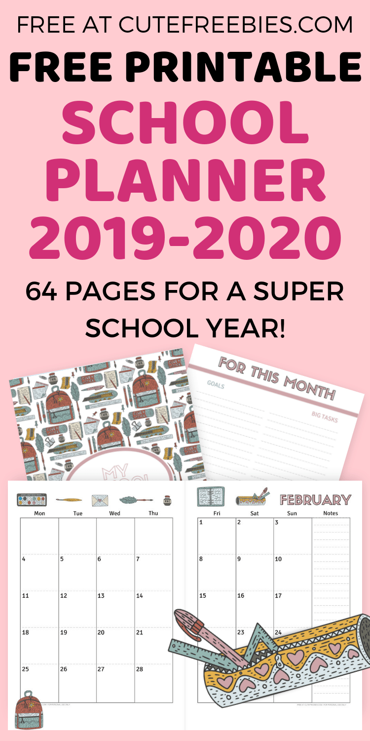 Free School Planner Printables For 2019-2020 | Cute Freebies - Free School Printables