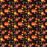 Free Scrapbook Paper: Halloween Pumpkins And Flowers | Rooftop Post   Free Printable Fall Scrapbook Paper