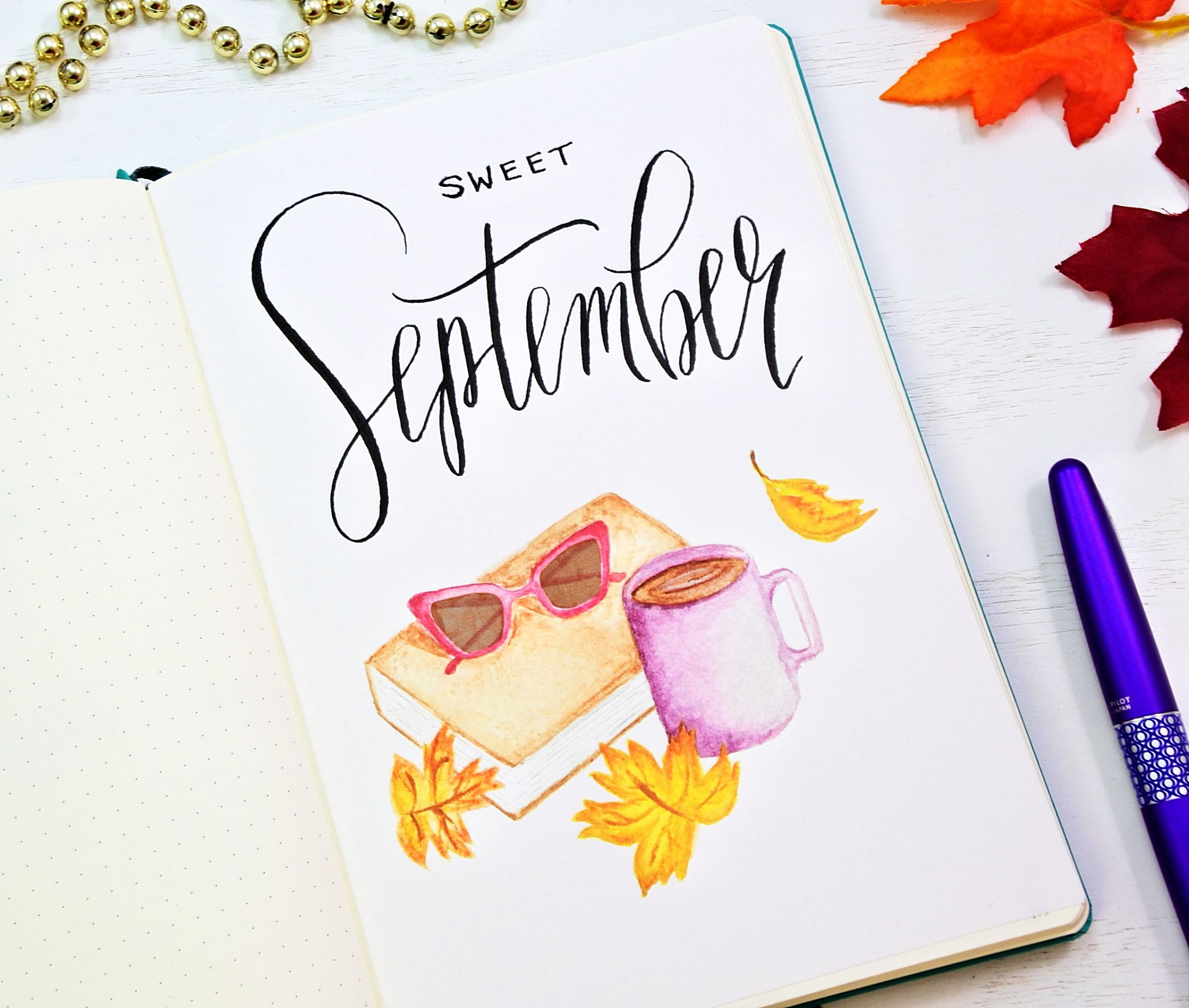 Free September Bullet Journal Printables ⋆ Sheena Of The Journal - Free Printable Watercolor Notebook Covers